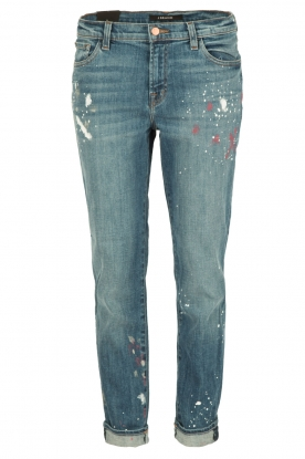 J brand |  Mid-rise boy fit jeans Johnny | peace