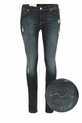 7 For All Mankind | Skinny jeans Swarovski Ripped | blauw