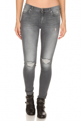 7 For All Mankind | Jeans Ripped Knee | grijs
