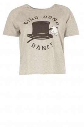 Zoe Karssen | T-shirt Ding Dong Dandy | grijs