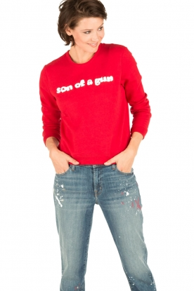 Zoe Karssen | Sweater Son of a Gun | rood