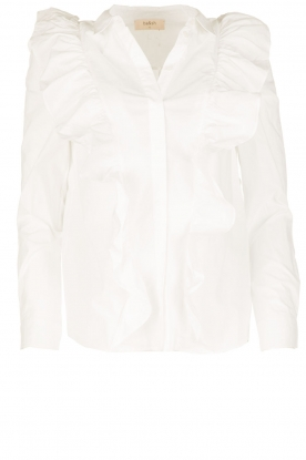 ba&sh |  Blouse with volants Dehli | white