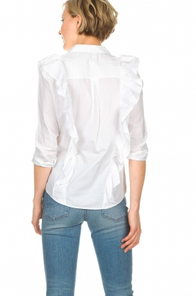 ba&sh | Blouse met volants Dehli | wit
