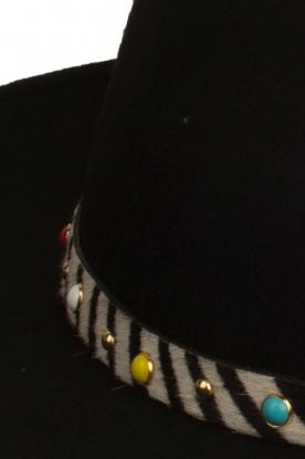 ba&sh | Wollen hoed Heart | zwart