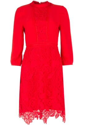 Essentiel Antwerp |  Lace dress Ozonize | red