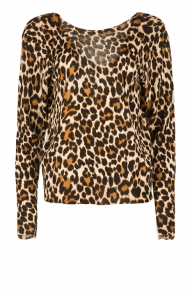 Essentiel Antwerp |  Woolen sweater Onyx | animal print