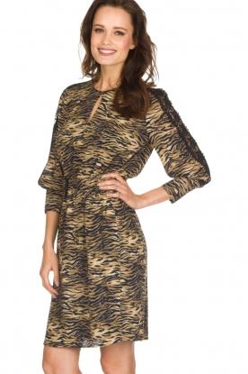 Set | Dierenprint jurk Delmira | dierenprint