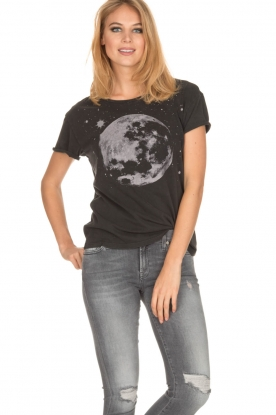Set | T-shirt Moon | zwart