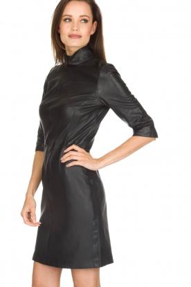 Set | Leren jurk Ann | zwart