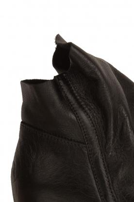Maluo | Leren wedge enkellaars Saba | zwart