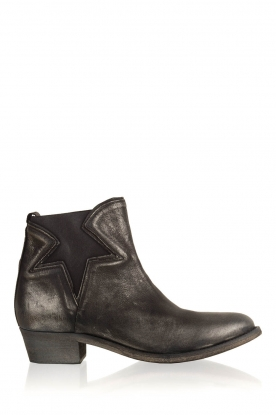 Maluo |  Leather ankle boots Star | metallic