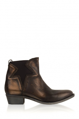 Maluo |  Leather ankle boots Star | bruin