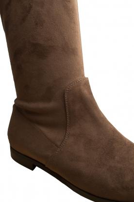 Maluo | Faux suède laarzen Julie | taupe