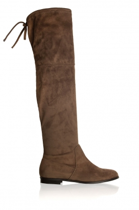 Maluo |  Faux suede boots Julie | taupe