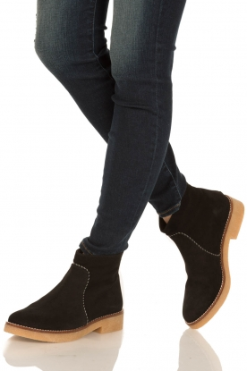 Maluo |  Suede ankle boots Playa | black