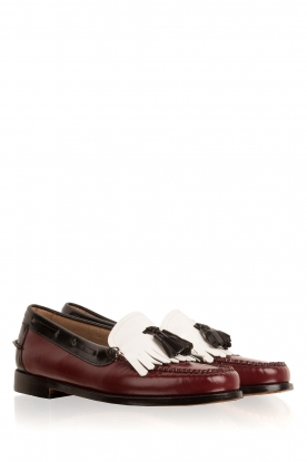 G.H. Bass & Co. | Leren loafers Weejun Esther Kiltie | rood