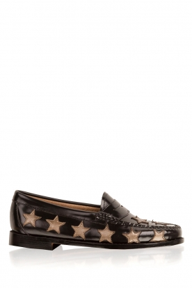 G.H. Bass & Co. | Leren loafers Weejun Penny Star | zwart