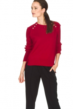 Atos Lombardini |  Sweater Buttons | red