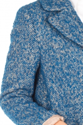 Atos Lombardini | Enkellange jas Electric | blauw