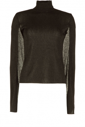 ELISABETTA FRANCHI |  Glitter top with turtleneck Wings | black