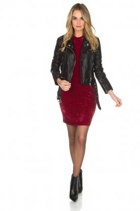 Aaiko | Velvet jurk Liane | rood