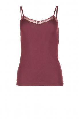 Hanro |  Top Charisa | bordeaux