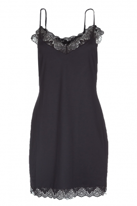 Hanro |  Slip dress with lace Luna | black