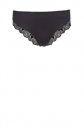 Hanro |  Briefs with lace Luna | black