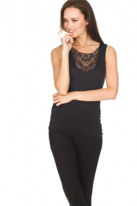 Hanro |  Top Fiona | black