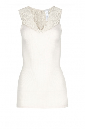 Hanro | Top with lace Lillian | nude