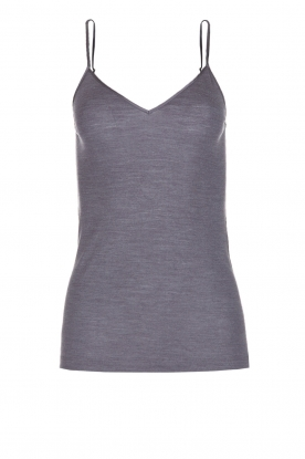 Hanro | Hemdje van wol zijde mix Wera | grijs