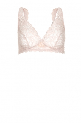 Hanro |  Lace soft bra cup Moments | pink