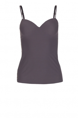 Hanro |  Padded bra top Allure | grey