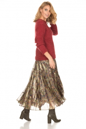 Mes Demoiselles |  Silk skirt Camelia | multi