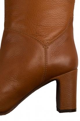 L'Autre Chose | Leren over-the-knee laars Noor | bruin