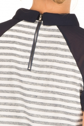 Aaiko | Polo T-shirt Sierra | wit/blauw