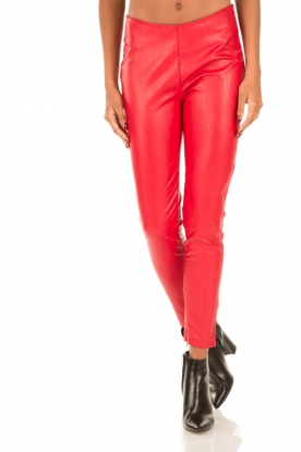 Aaiko | Faux leren legging Peddy | Faux leather leggings Peddy | red