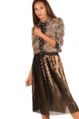 Aaiko | Dierenprint blouse Adora | bruin