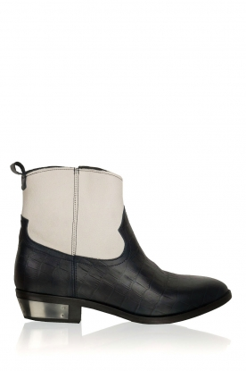Catarina Martins |  Leather ankle boots Boca | blue