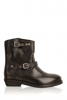 Catarina Martins |  Leather biker boot Road | black