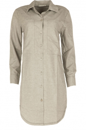 Sunday in Bed |  Flannel night gown Stassy | grey