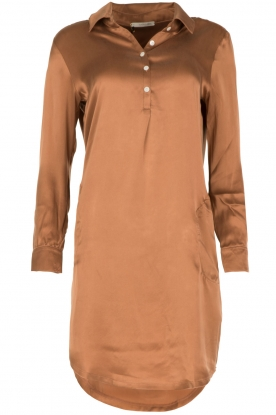 Sunday in Bed |  Silk night gown Sarah | brown