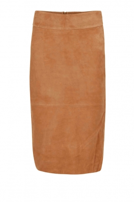 Dante 6 |  Suede pencil skirt Giselle | camel