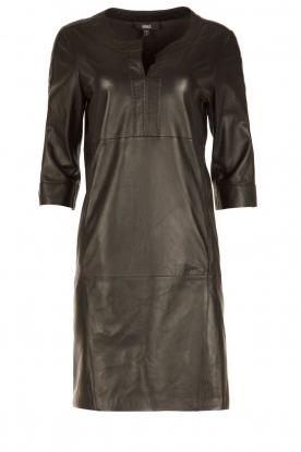 Arma | Leren jurk Murret | zwart