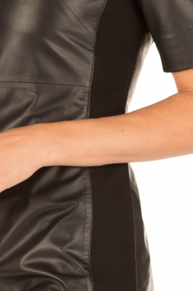 Arma | Leren jurk Alexis | zwart