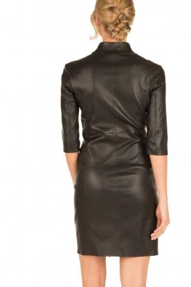 Arma | Leren jurk Jessica | zwart
