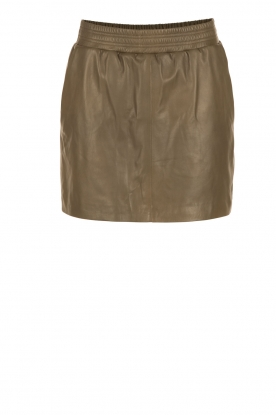Arma |  Leather skirt Mare | green