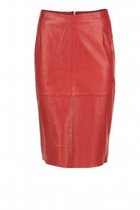 Arma |  Leather pencil skirt Ninouk | red