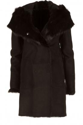 Arma | Lammy coat Olivet | zwart