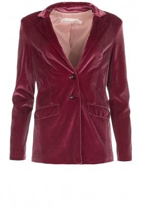 Patrizia Pepe | Velvet blazer Giacca | roze